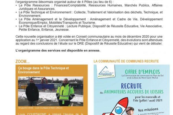 Infos Com'Com - Entre Terre et Baie - Février 2021