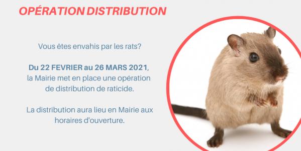 Distribution raticide