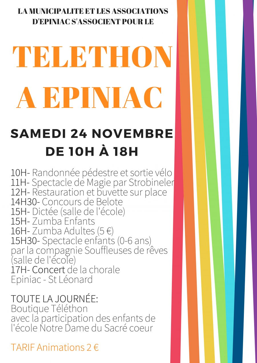 Samedi 24 novembre : le Téléthon à Epiniac