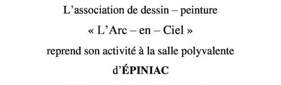 """Association """"L'Arc en Ciel"""" : reprise des ateliers le 20 septembre !"""