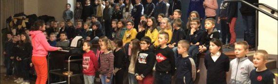 Représentation musicale à l'école Notre Dame